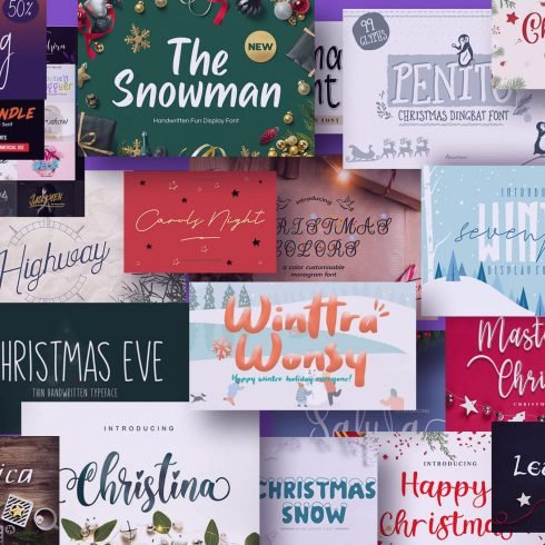 Examples Best Christmas Fonts.