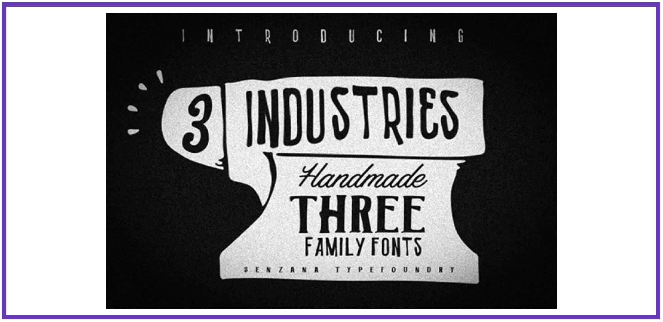 3 Font Industries. Best Industrial Fonts.
