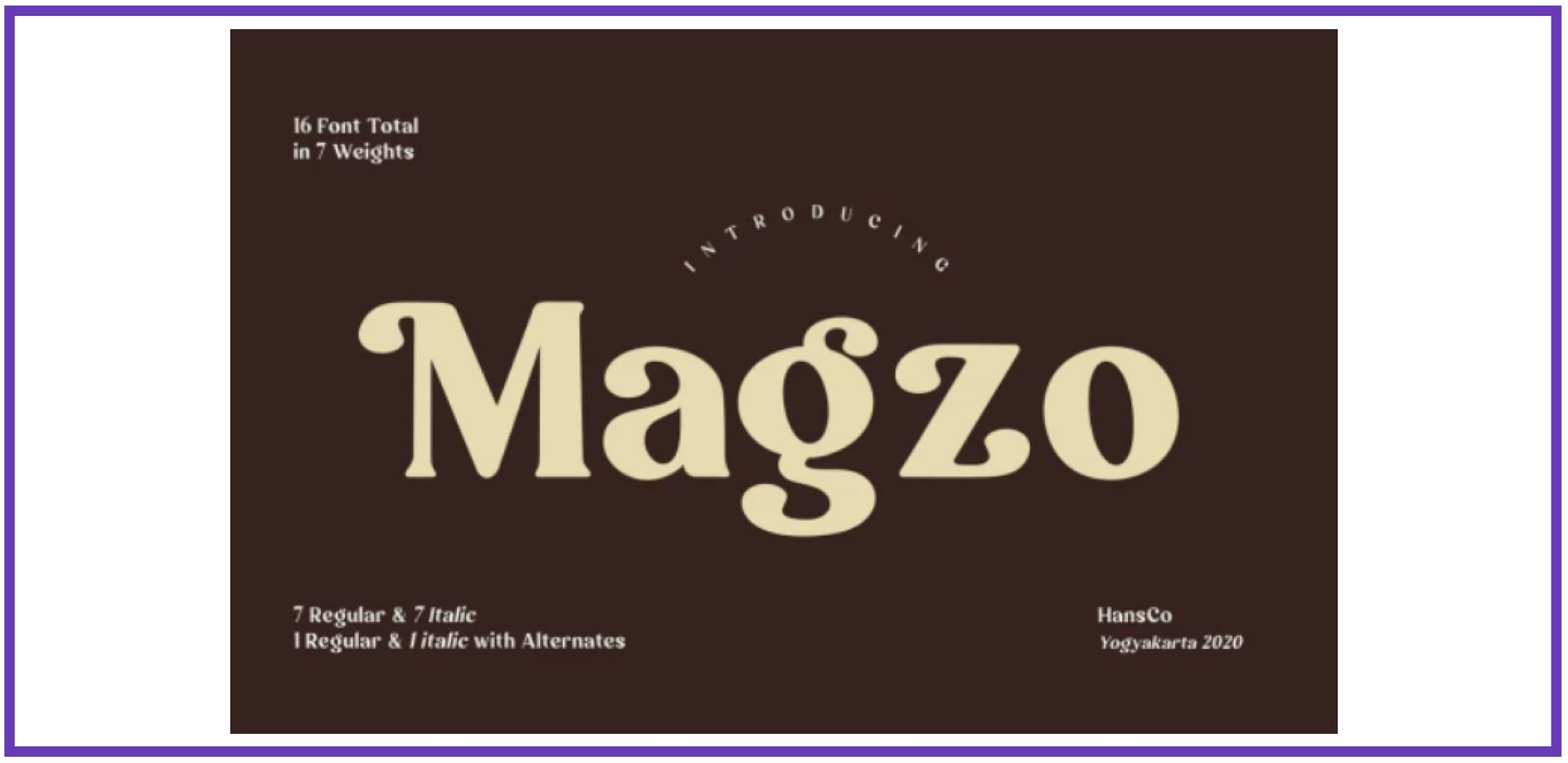 Magzo. Best Industrial Fonts.