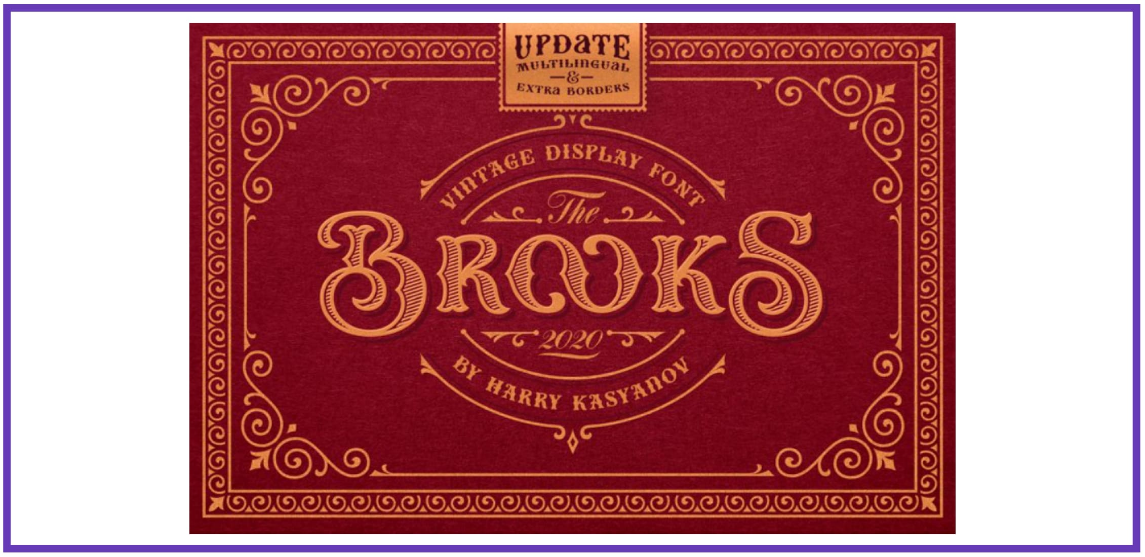 Brooks Vintage Font. Best Industrial Fonts.