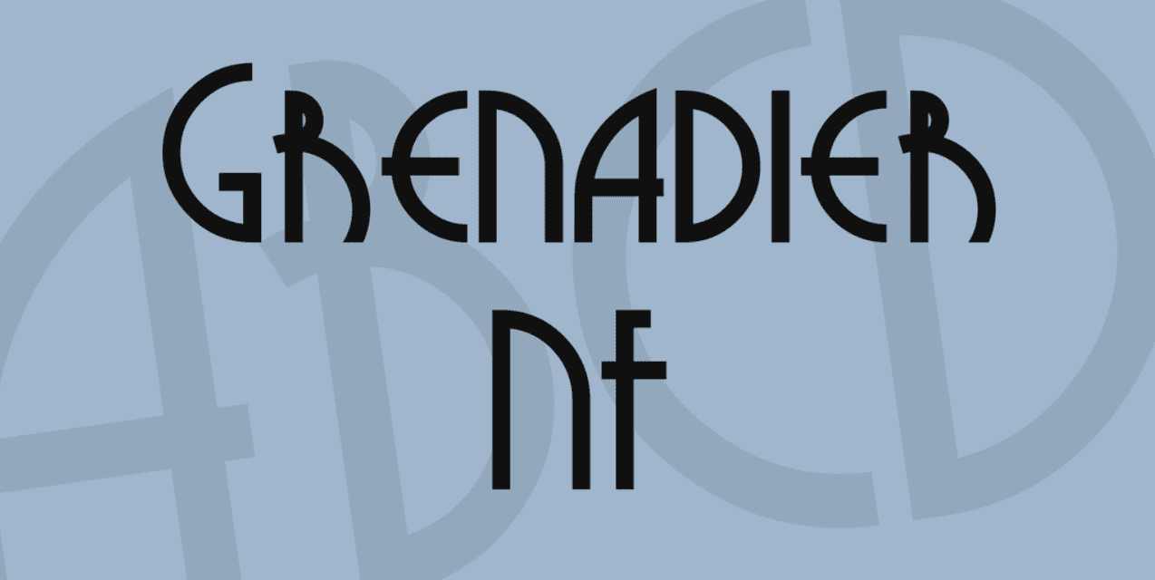 Grenadier NF Font Made by Nick Curtis. Best Industrial Fonts.