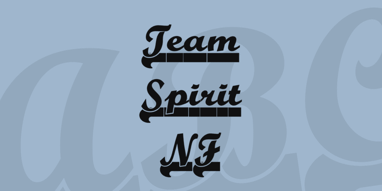 Team Spirit NF Font Made by Nick Curtis. Best Industrial Fonts.
