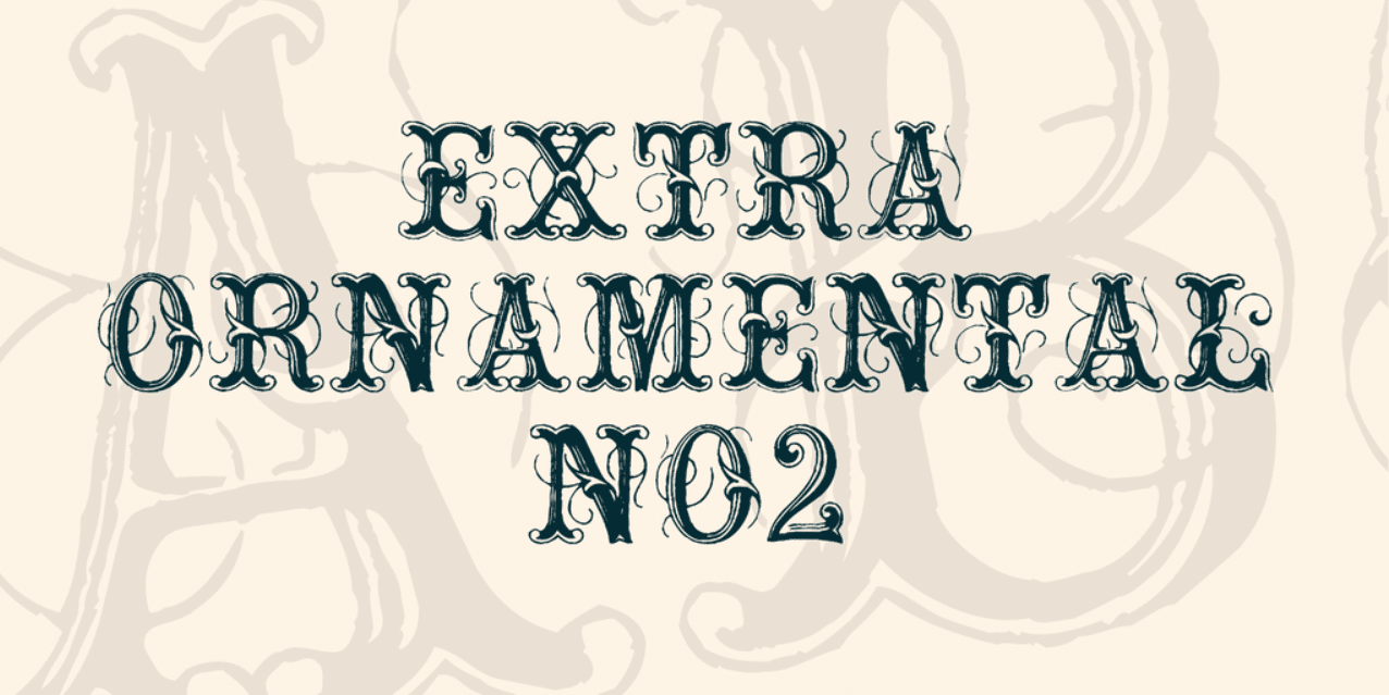 ExtraOrnamentalNo2 Font Made by Lime. Best Industrial Fonts.