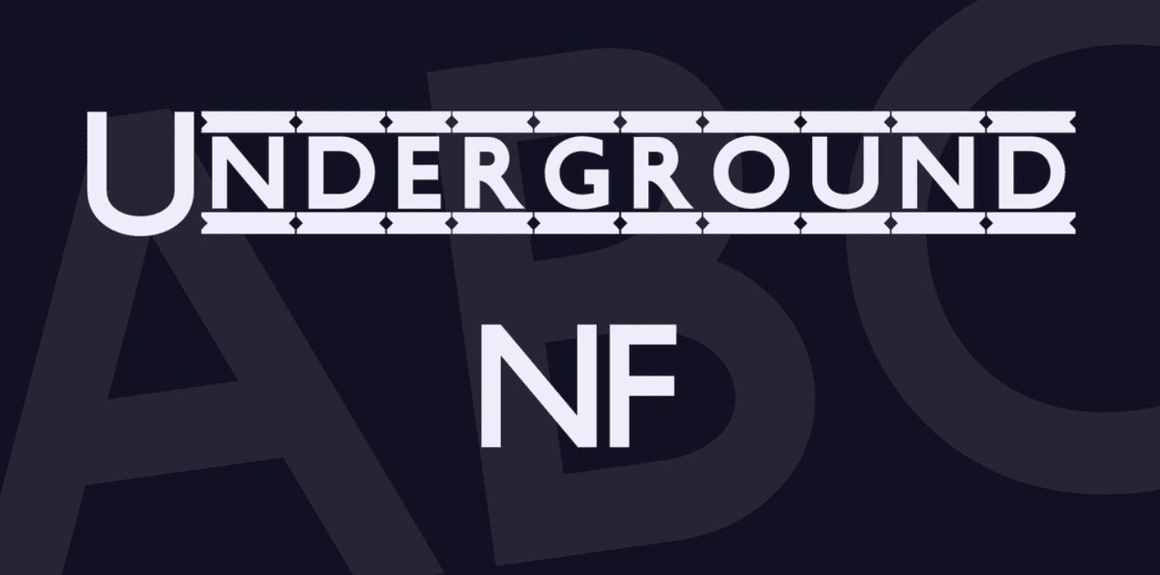 Underground NF Font Made by Nick Curtis. Best Industrial Fonts.