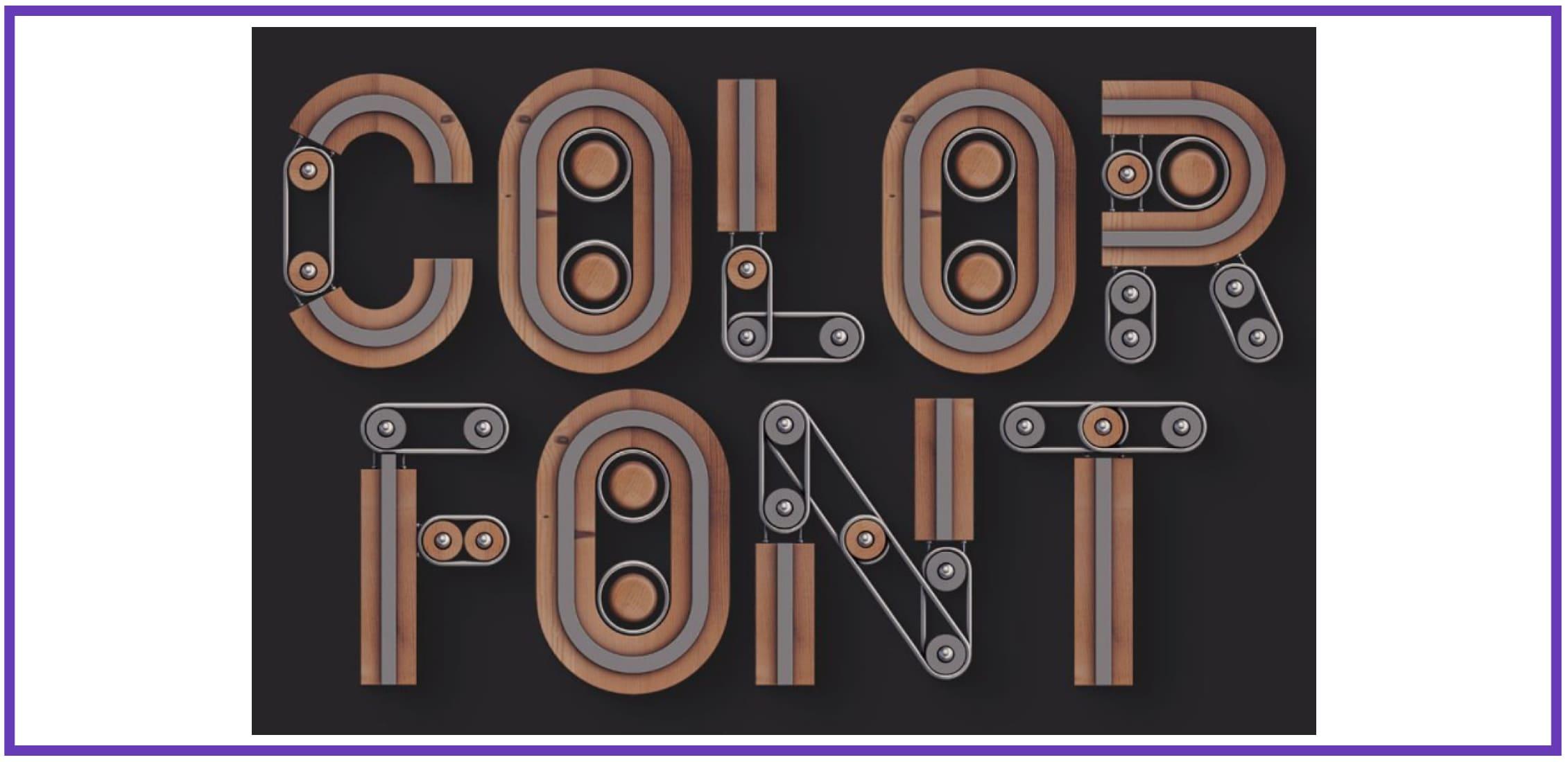 Creator - Color SVG Font By Deeezy. Best Industrial Fonts.