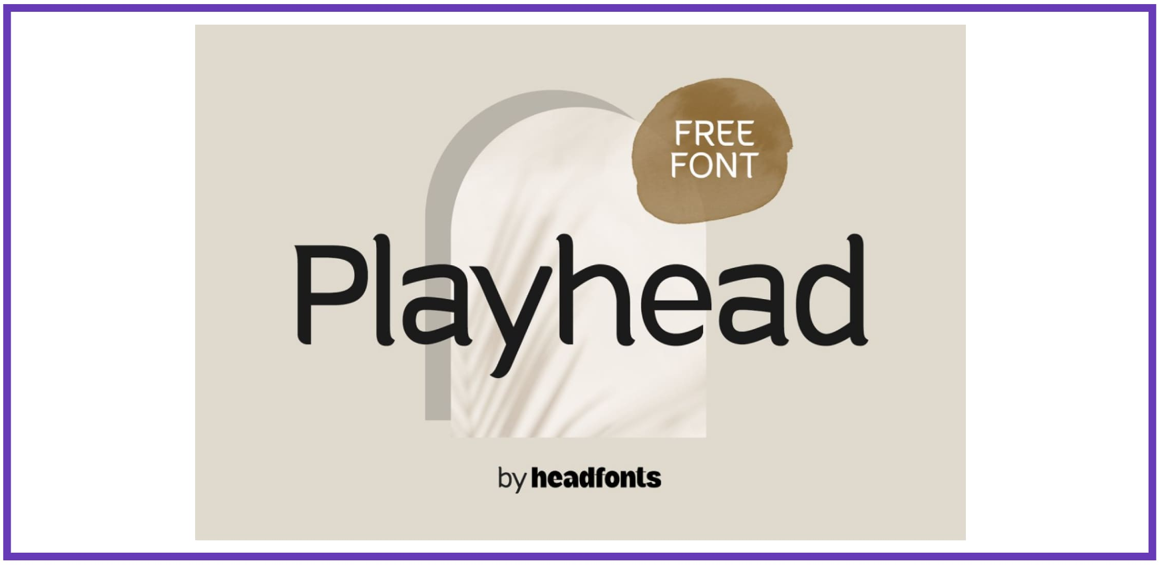 Playhead playful font By Headfonts. Best Industrial Fonts.