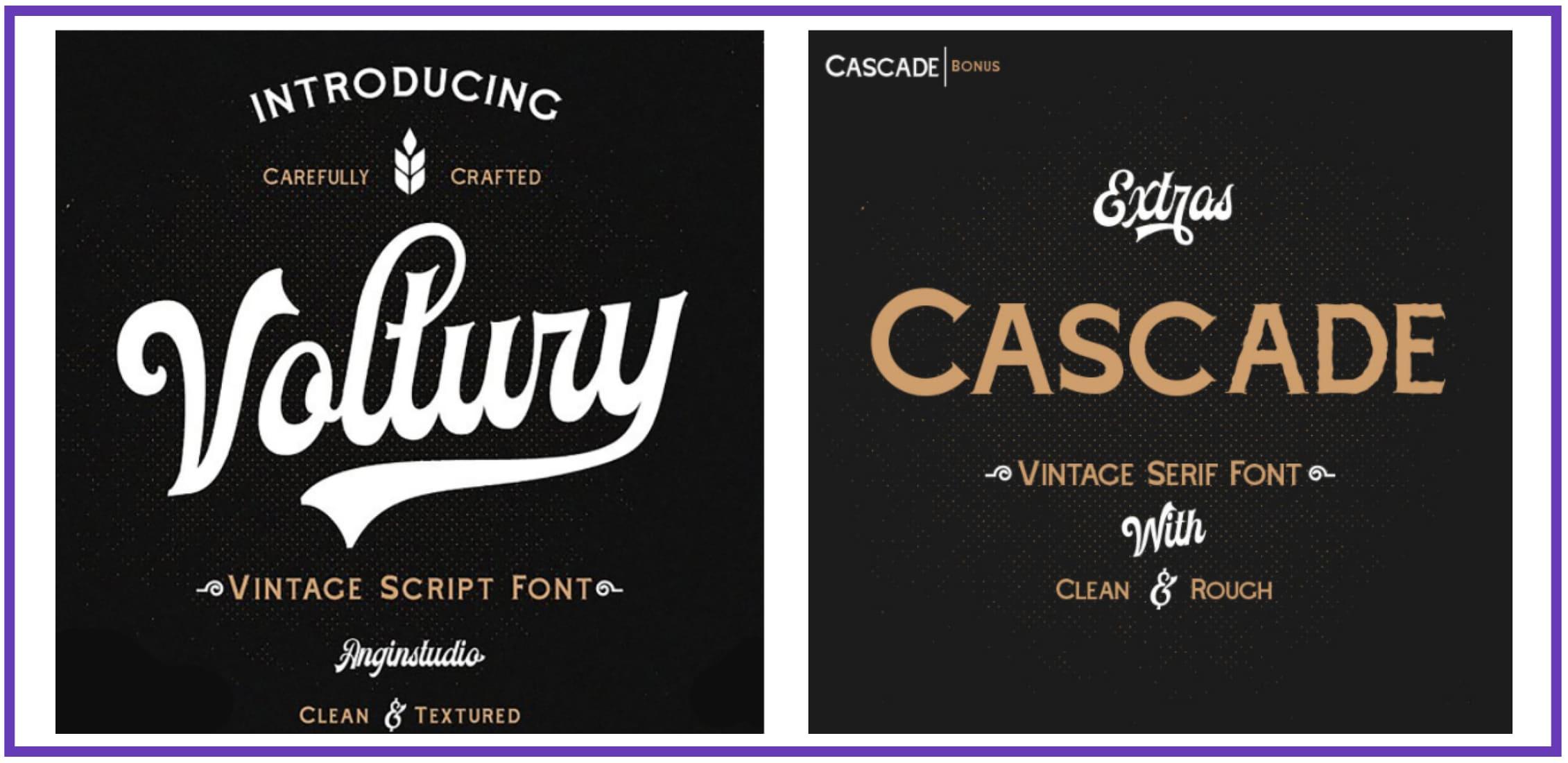 Voltury American Vintage Font Duo. Best Industrial Fonts.