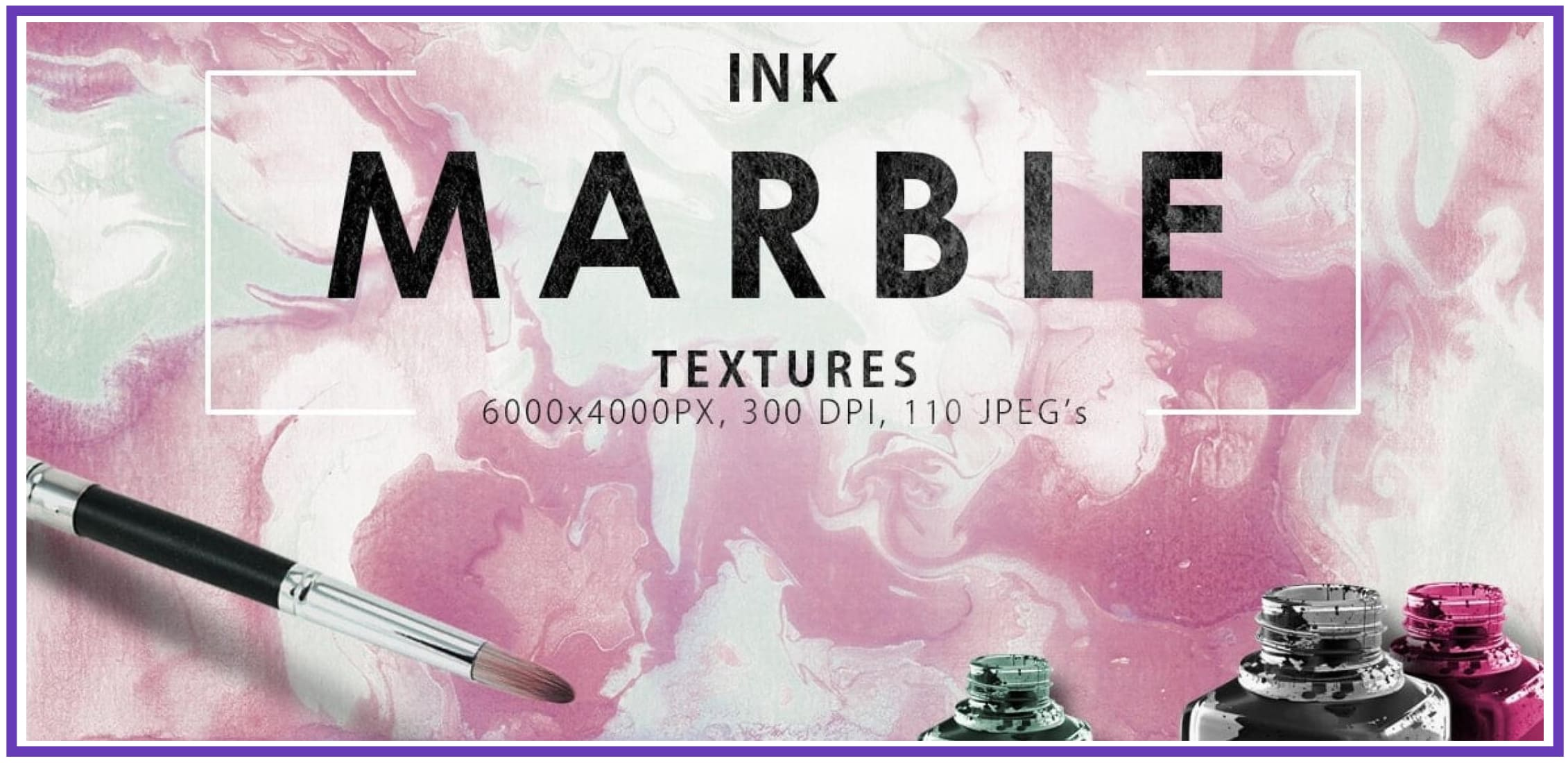 Cute Marble Backgrounds & Textures Bundle: 110 Items.