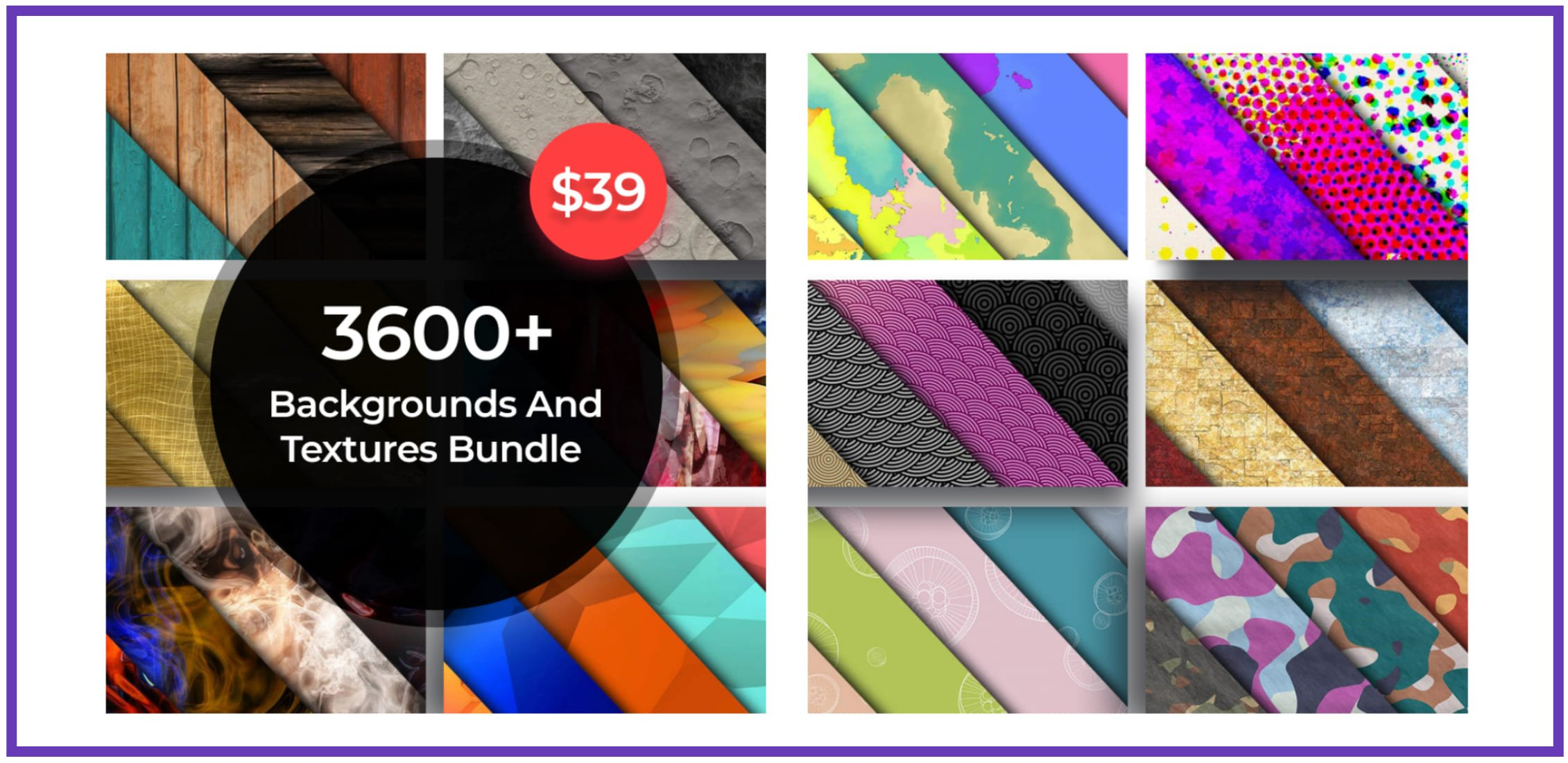 3600+ Bright Backgrounds and Textures Bundle.