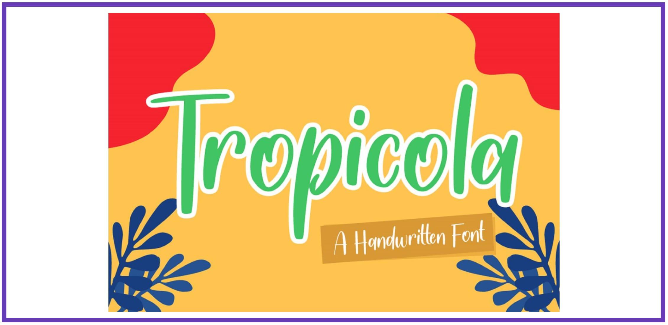 Handwritten Font By Graphue. Tropical Font.
