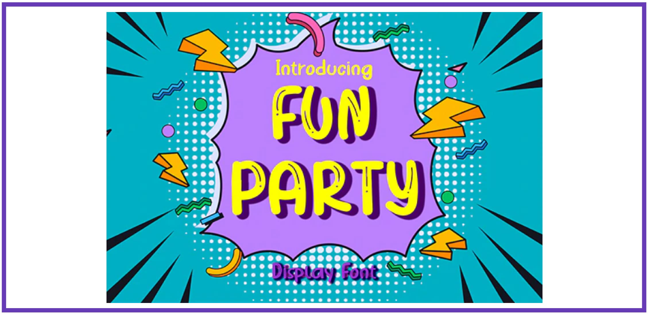Fun Party. Tropical Font.