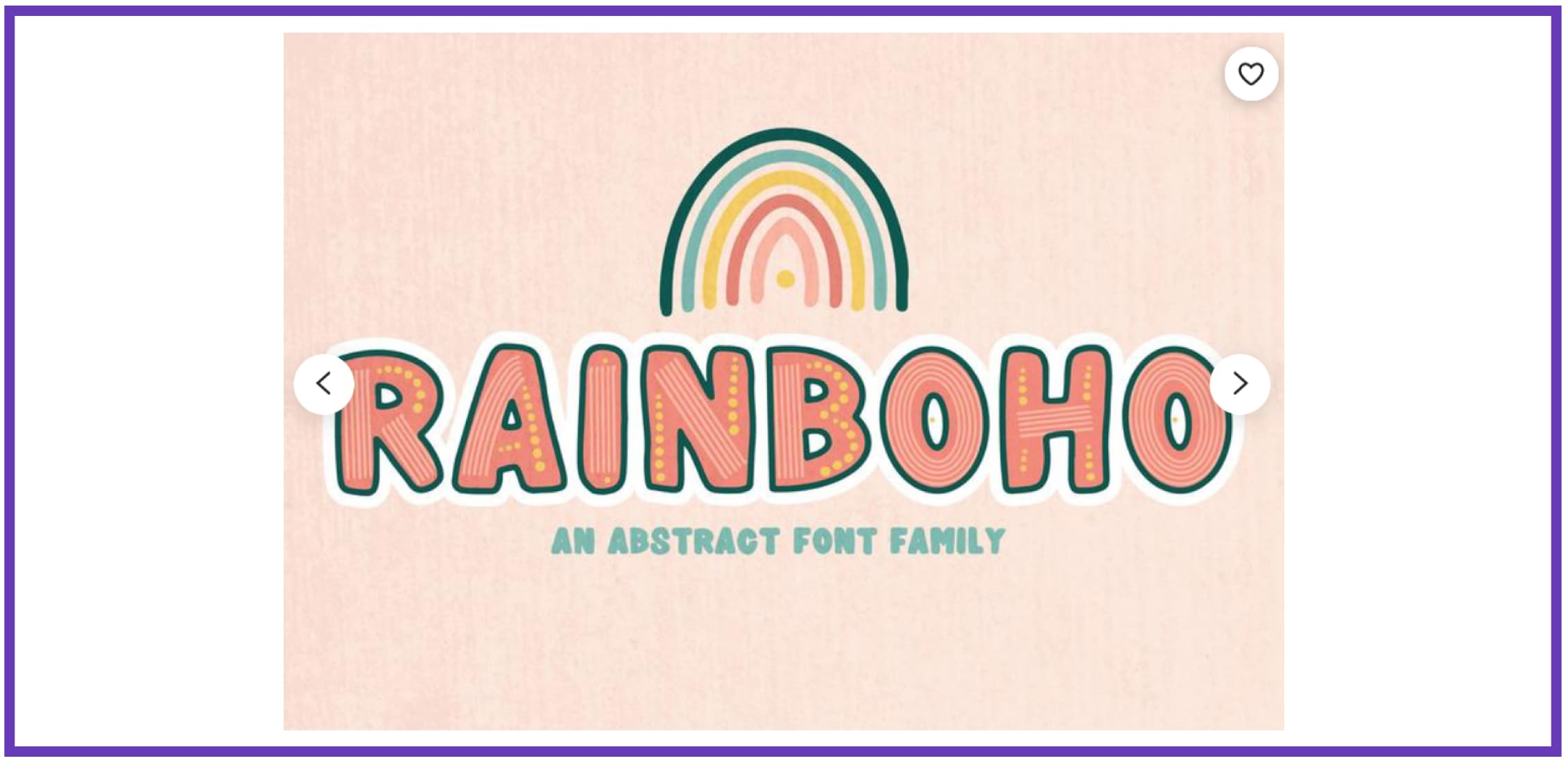 Rainboho Font Family. Tropical Font.