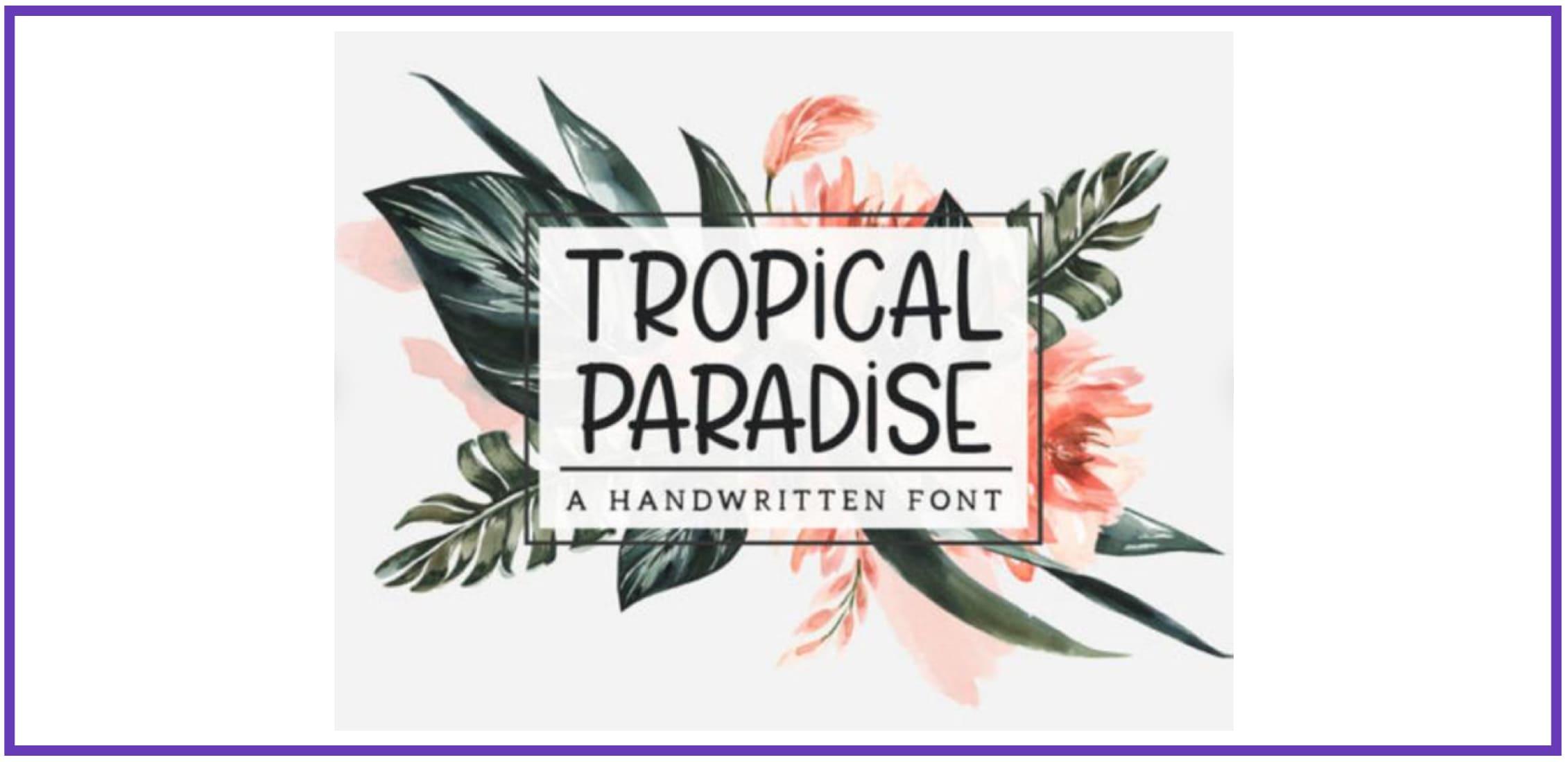 Tropical Paradise Font. Tropical Font.