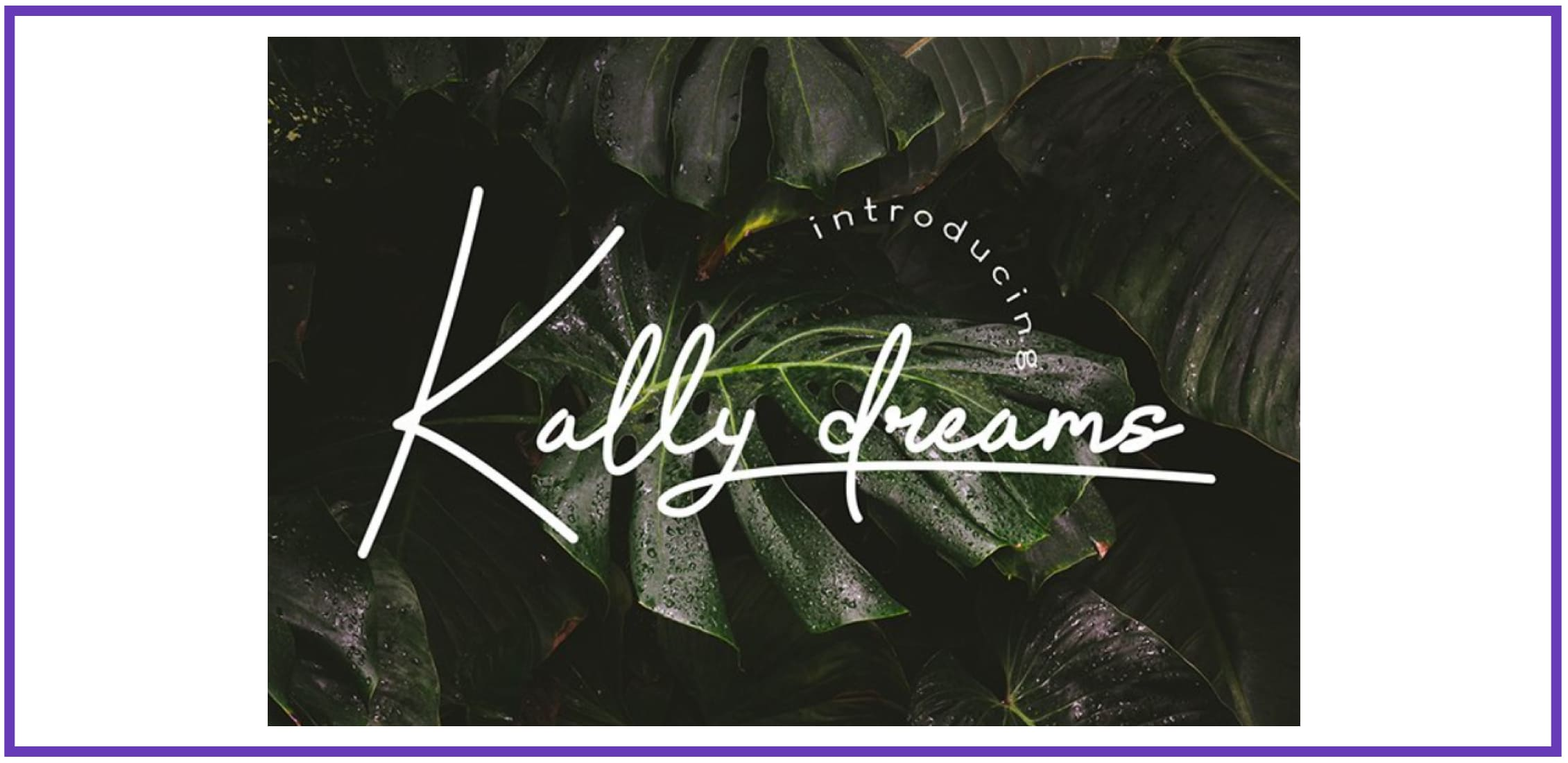 Kally dreams - monoline font By Hishand studio. Tropical Font.