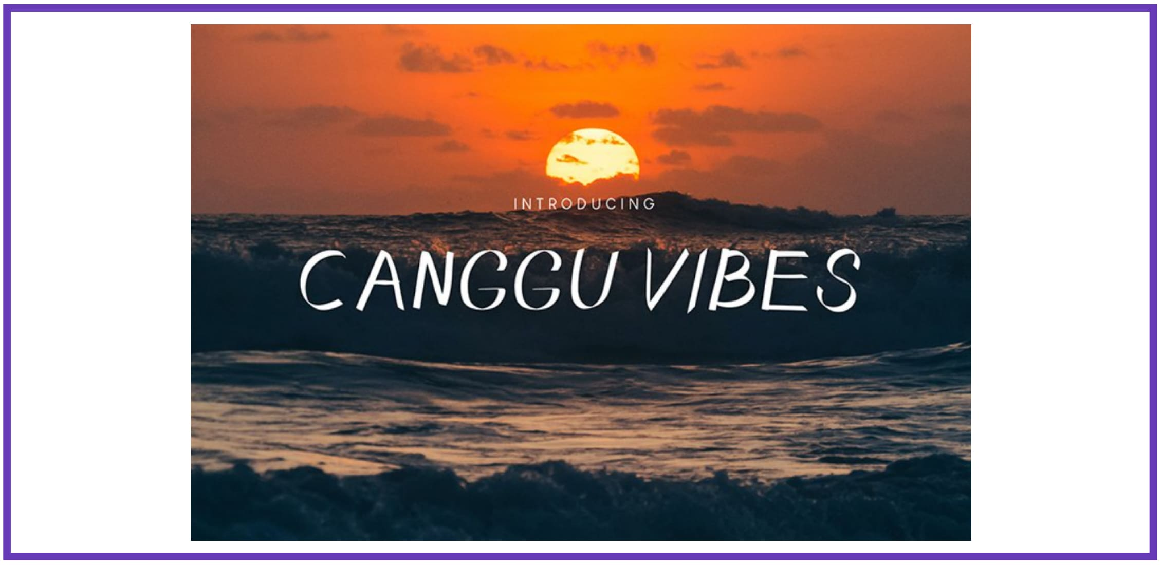 Canggu Vibes Script Font By Hishand studio. Tropical Font.