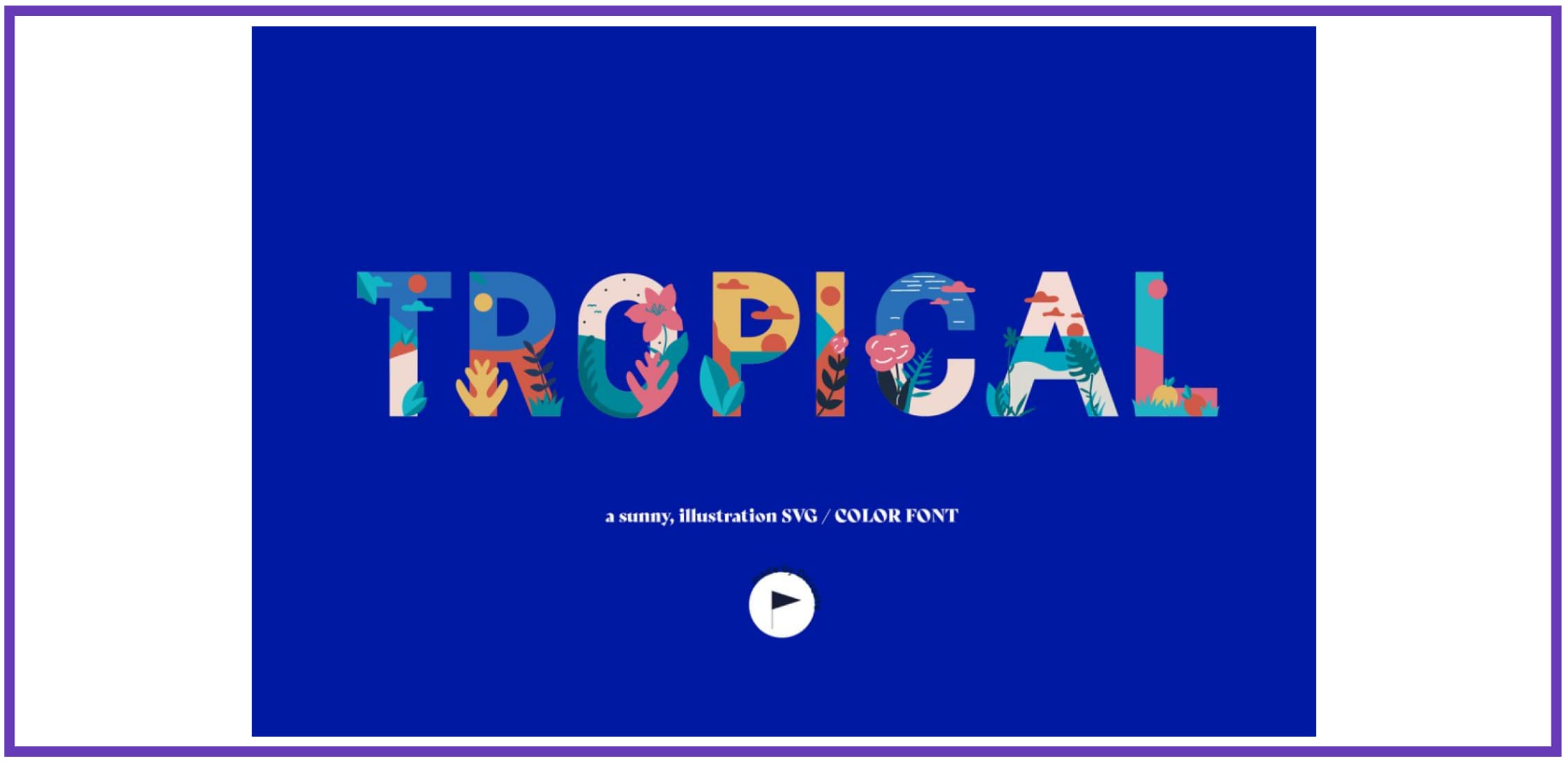 Tropical - Color SVG Font By dicreate. Tropical Font.