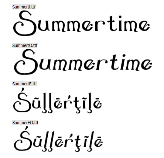 Summer Love by Darrell Flood. Tropical Font.
