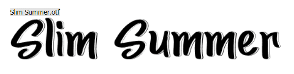 Slim Summer. Tropical Font.