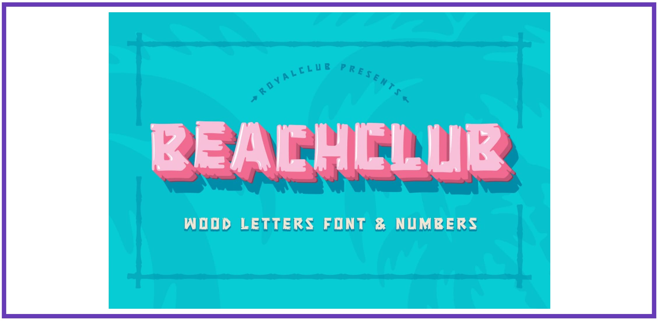 BEACH CLUB FONT By ROYALCLUB. Tropical Font.