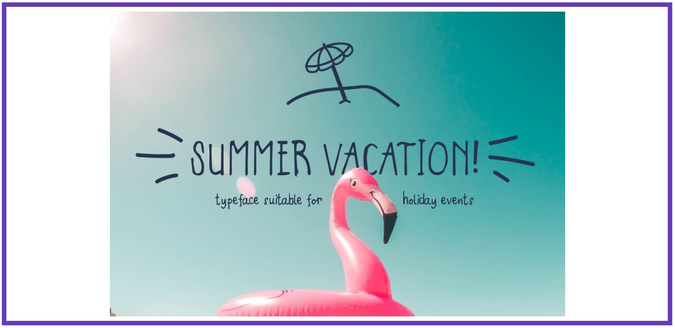 Summer Vacation! By Jetsmax. Tropical Font.