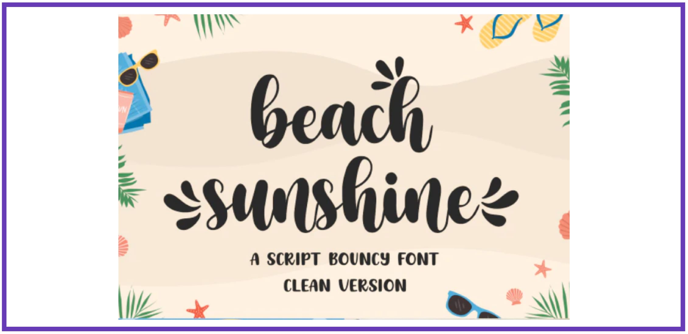 Beach Sunshine. Tropical Font.