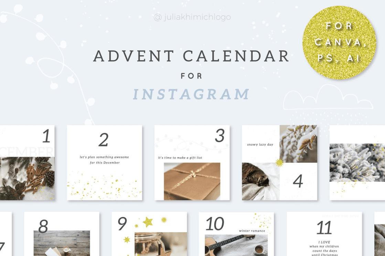 150+ Free Christmas Graphics: Fonts, Images, Vectors, Patterns & Premium Bundles - christmas advent calendar template 12