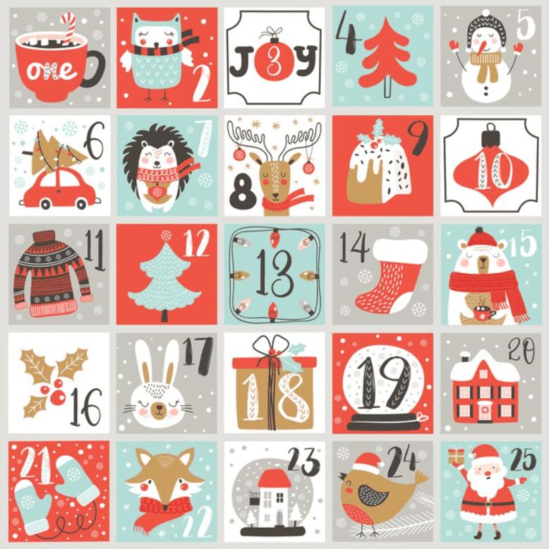 150+ Free Christmas Graphics: Fonts, Images, Vectors, Patterns & Premium Bundles - christmas advent calendar template 2