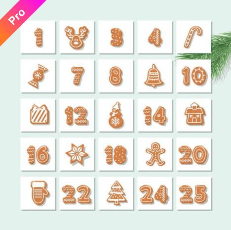150+ Free Christmas Graphics: Fonts, Images, Vectors, Patterns & Premium Bundles - christmas advent calendar template 5