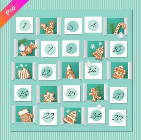 150+ Free Christmas Graphics: Fonts, Images, Vectors, Patterns & Premium Bundles - christmas advent calendar template 6