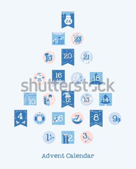150+ Free Christmas Graphics: Fonts, Images, Vectors, Patterns & Premium Bundles - christmas advent calendar template 7