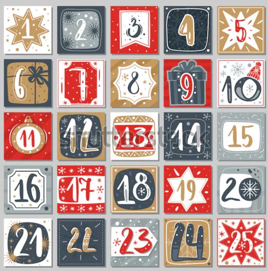 150+ Free Christmas Graphics: Fonts, Images, Vectors, Patterns & Premium Bundles - christmas advent calendar template 8