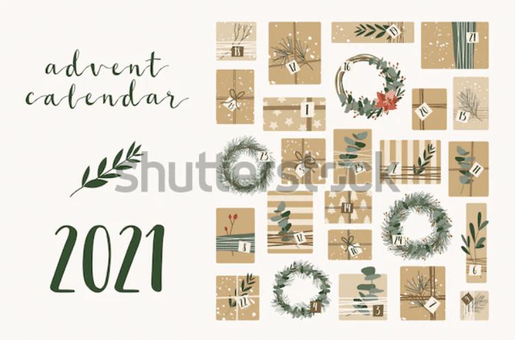 150+ Free Christmas Graphics: Fonts, Images, Vectors, Patterns & Premium Bundles - christmas advent calendar template 9