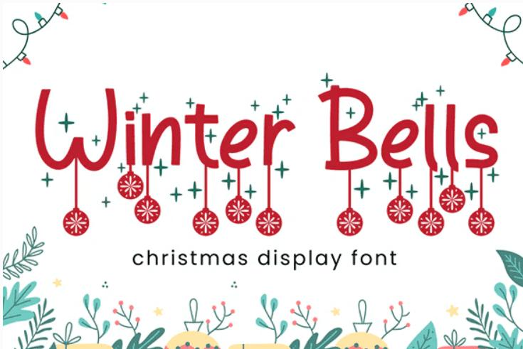 Winter Bells - Christmas Font.