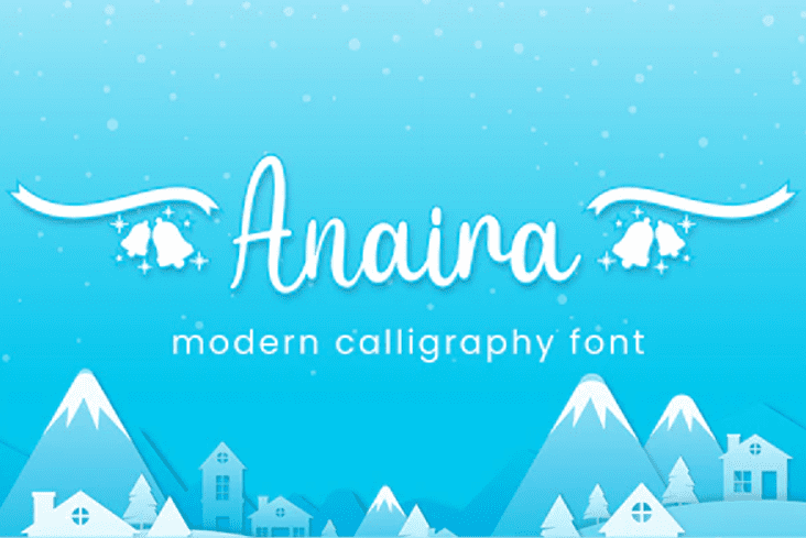 Anaira - Christmas Font.