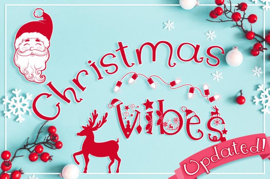 Christmas Font. Whimsical Christmas Vibes.