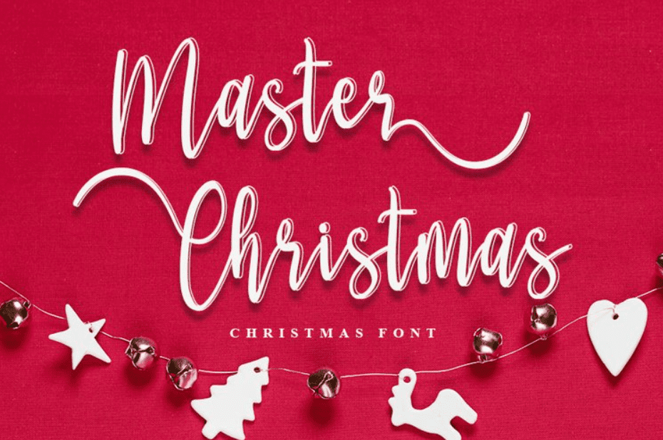 Master Christmas. Christmas Script Font.