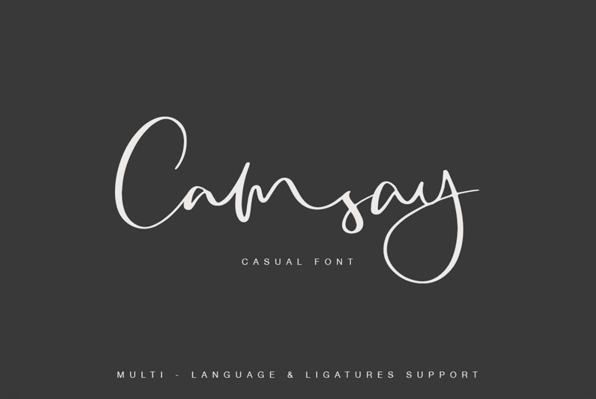 Camsay Script Font.
