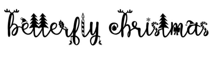 110+ Best Christmas Fonts 2020: Free & Premium - christmas font 27