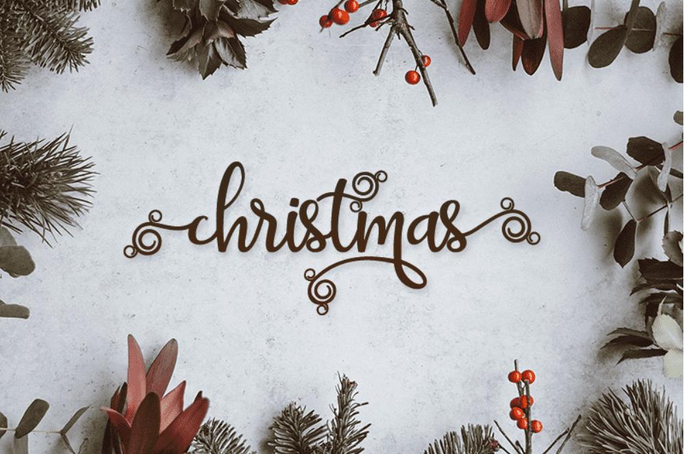 110+ Best Christmas Fonts 2020: Free & Premium - christmas font 31