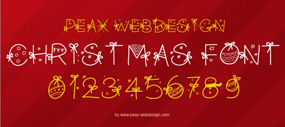 110+ Best Christmas Fonts 2020: Free & Premium - christmas font 33