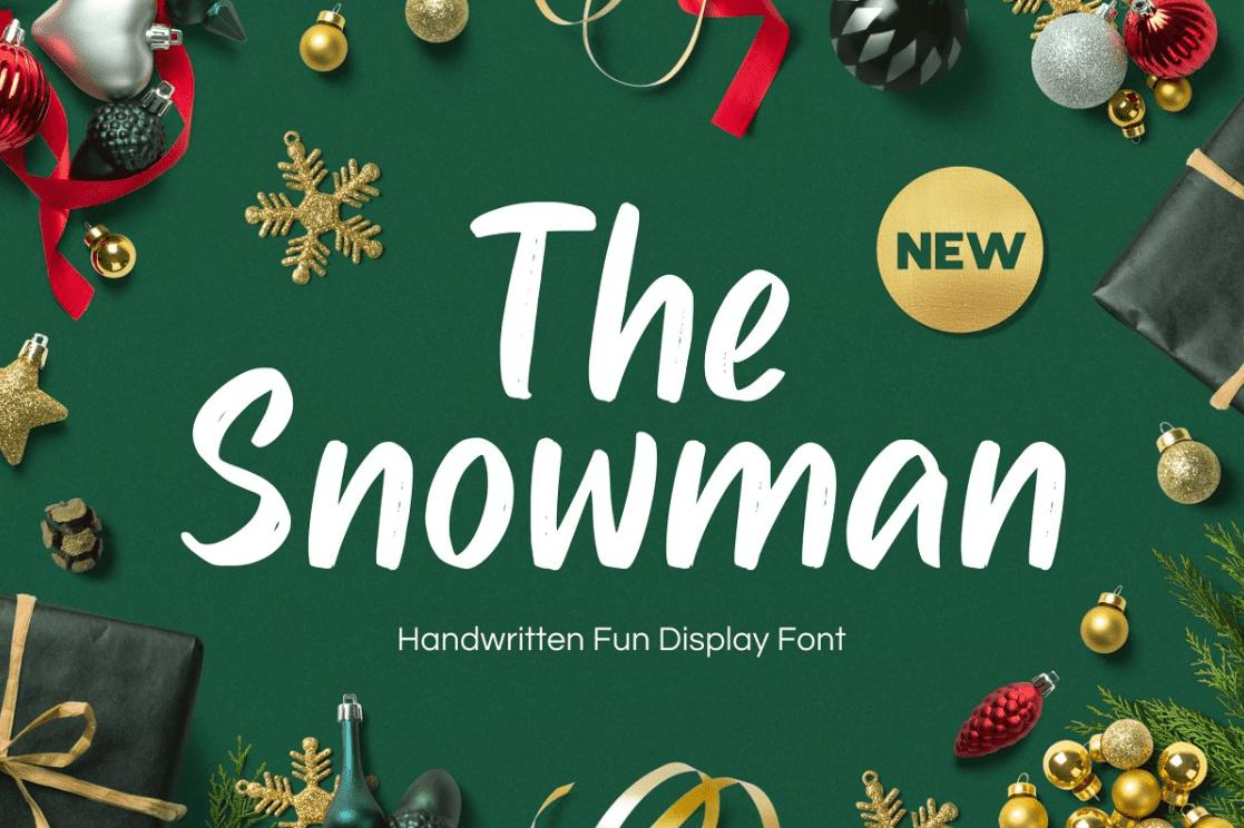 Snowman - Handwritten Fun Font By Fype Co.