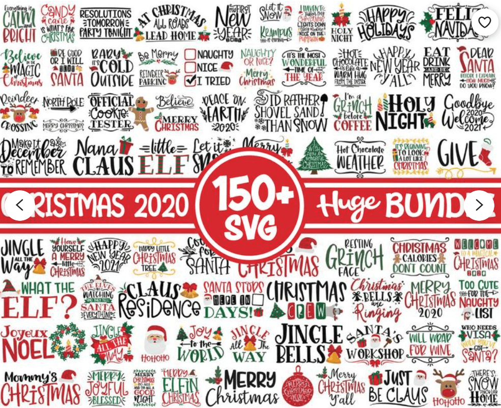 150+ Free Christmas Graphics: Fonts, Images, Vectors, Patterns & Premium Bundles - christmas graphics bundle 12