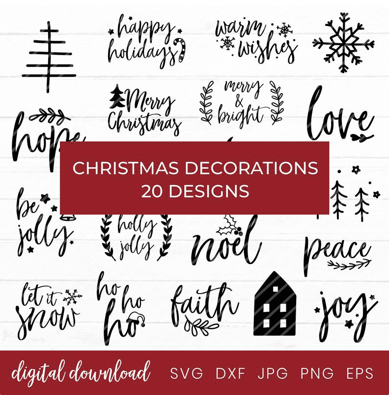 150+ Free Christmas Graphics: Fonts, Images, Vectors, Patterns & Premium Bundles - christmas graphics bundle 13