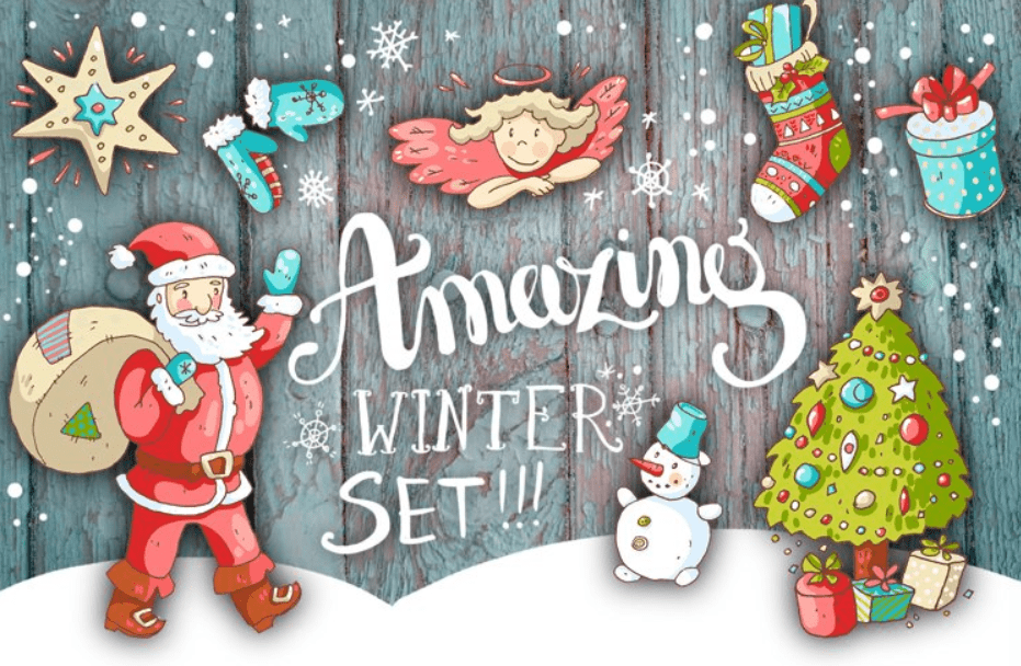 150+ Free Christmas Graphics: Fonts, Images, Vectors, Patterns & Premium Bundles - christmas graphics bundle 15