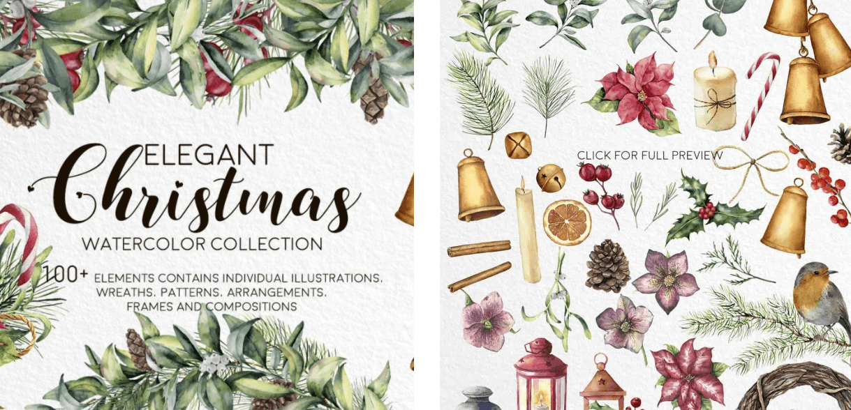 150+ Free Christmas Graphics: Fonts, Images, Vectors, Patterns & Premium Bundles - christmas graphics bundle 3
