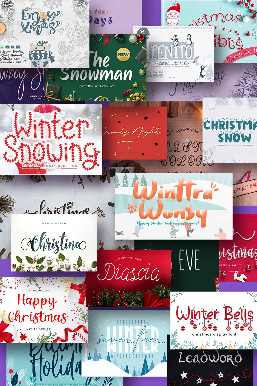 Pinterest Image Best Christmas Fonts.