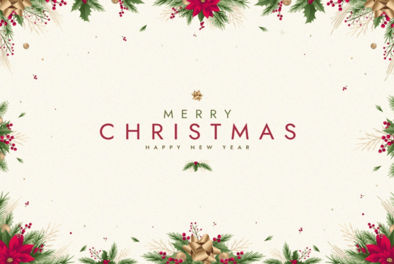Flat Christmas background Free Vector