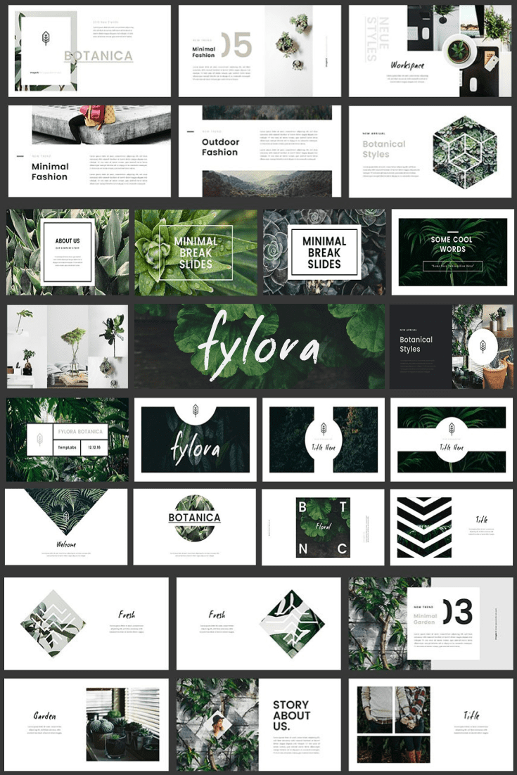 60+ Outstanding Simple PowerPoint Templates 2021: Free & Premium - 01 FYLORA Powerpoint Template