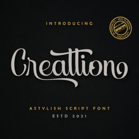Creattion Curly Script Font - 1 4 490x490