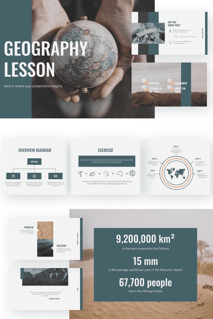 60+ Outstanding Simple PowerPoint Templates 2021: Free & Premium - 10 geography lesson
